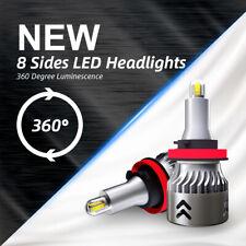 8-Side H11 LED Headlight H8 H9 Fog Light CSP Bulbs Kit 2200W 480000LM Mini 6000K