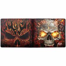 Spiral Direct Skull Blast Mens Wallet Gothic Heavy Metal Built In RFID Blocking