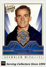 2014 Select AFL Honours Brownlow Gallery Card BG20 John James (Carlton)