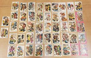 1969-70 Odd Rods Donruss Sticker Trading Cards Lot of 48 Vintage Cuda Nova Dodge