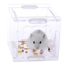 New Transparent Acrylic Small Animal Pet Bug Rabbit Hamster Cage Box Mice Mouse