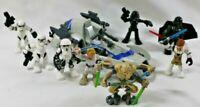 STAR WARS GALACTIC HEROES Hasbro General Grievious Darth Vader OBI WAN BARC Luke
