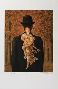René Magritte - The Ready-Made Bouquet (lithograph, plate-signed & numbered)