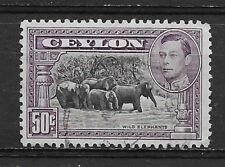 CEYLON , SRI LANKA , GEORGE VI , 1938/52 , 50c  STAMP , PERF , USED