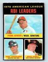 1971 Topps Frank Howard , Tony Conigliaro , Boog Powell . #63
