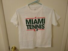 Adidas Miami Hurricanes Tennis Women's White T-Shirt M Medium