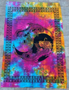 Dragon Multi 100% Cotton Poster Size Wall Hanging Tapestry 45 x 29 Home Decor