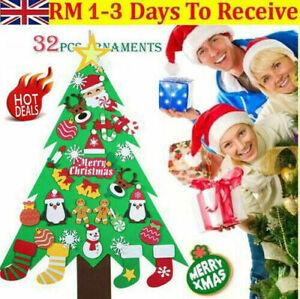 Large DIY Felt Christmas Tree Kids Toys Xmas Gifts Wall Hanging Decor Ornaments