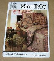 SIMPLICITY SHIRLEY BOTSFORD HOME DECORATING CRAFT SEWING PATTERN 7138