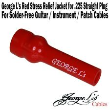 George L's .225 Cable Stress Relief Jacket Sleeve for Straight Plug RED NEW