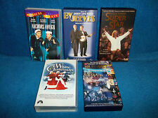 MUSICALS - VHS VIDEO BUNDLE - WHITE CHRISTMAS, BY JEEVES, SUPERSTAR, MR PRODUCER