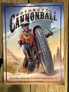 2020 Motorcycle Cannonball Artwork Poster