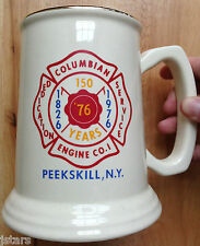 1976 COLUMBIAN ENGINE NUMBER 1 FIRE DEPARTMENT COFFEE MUG, BEER, PEEKSKILL, NY