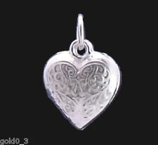 Hollow Heart charm Sterling silver 925 charmmakers 3D