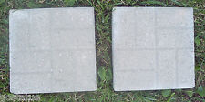 2  POLY  plastic paver reusable molds concrete durable and strong molds!