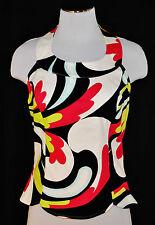 Designer Etcetera BoHo CHIC Paisley Colorful Halter Top Shirt Blouse 10
