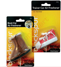 SCENTED TRAINER BOOT SHOE HANGING CAR VAN LORRY MAIR FRESHENER BLUE RED BLACK