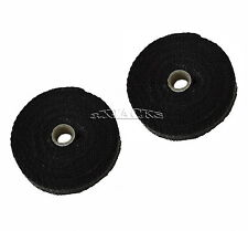 2 PACK BLACK FIBERGLASS EXHAUST PIPE HEADER WRAP TAPE TURBO THERMO INSULATION