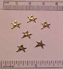Oblique (Slanted) GOLD STARS for 1:9 Scale Model Horse Tack / Costume Making