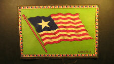 "Early 1900's felt flag 5"" by 8"" of Liberia"