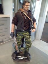 "Custom Stallone Hot Toys 1:6  Barney Ross Expendables Figure Guns 12"" Rambo OOAK"