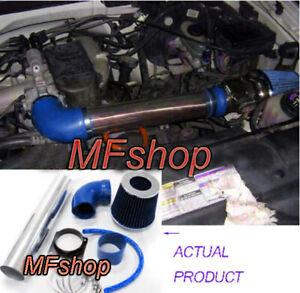Blue For 1997-2003 Ford F-150 Pickup 4.2L V6 OHV Air Intake System Kit + Filter