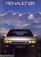 Auto Brochure - Renault - 25 - 1986 - Francais French language (AB466)