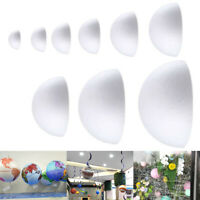 Polystyrene Styrofoam Half Ball Foam DIY Craft Party Celebration Decorat Hc