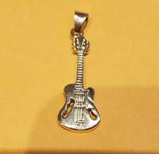 Electric Guitar 14k yellow gold Pendant Charm