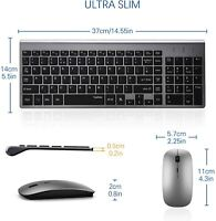 Mouse Wireless Keyboard Comb 2 4ghz Cordless Ultra Thin Silent Ergonomic Design