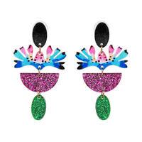 2019 Fashion New Style Flower Resin Drop Dangle Earrings for Women Party Jewelry