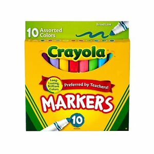 Crayola Markers, Broad Line, 10ct - Classic Colors