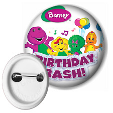 Barney And Friends Birthday Bash Button Pin Badge 50mm