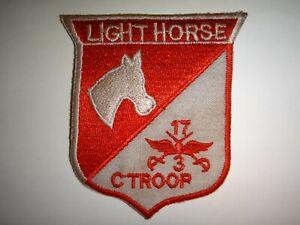 Vietnam Guerre États-Unis C Troupe 3rd Escadron 17th Cavalerie Regiment Légère