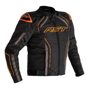 RST S-1 CE NEON ORANGE Motorbike Motorcycle Waterproof Textile Jacket NEW 2021