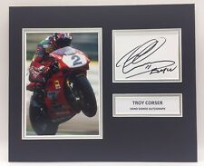 RARE Troy Corser Moto GP Signed Photo Display + COA AUTOGRAPH DUCATI MOTOGP