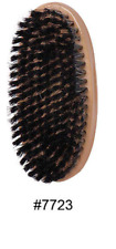 Soft Round Palm Brush by Magic Collection Reinforced Natural Boar Bristle #7723
