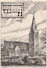 S. Modoc, Doune, Scotland; James Brooks, Architect 1876 old antique print