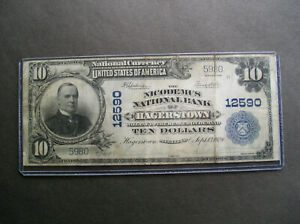 Series 1902 $10.00 The Nicodemus National Bank of Hagerstown MD