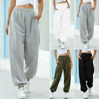 Womens Ladies Jogger Tracksuit Pants Bottoms Casual Loose Trousers Sweatpants