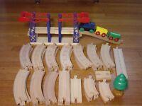 Big Lot Wood Train Track Bridge For Thomas Tank Engine Wooden Railway Brio Cars