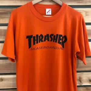 VTG 90s Jerzees Thrasher Skateboard Magazine SINGLE STITCH Skate Promo T Shirt L