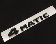 BLACK New 3D 4 MATIC Chrome Trunk Emblem Badge For C E S ML GL CLS GLA GLK AMG