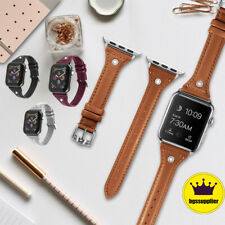 Lady Leather Watch Band Wrist Strap For Apple Watch iWatch Series 5 4 3 2
