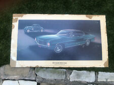 1972 Chevrolet  Chevelle Malibu Coupe Showroom Poster w 1933 Chevy