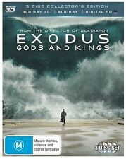 Exodus - Gods And Kings (Blu-ray, 2015, 3-Disc Set)