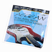 1 Set of 6 Strings for Electric Guitar Parts Nickel Alloy Wound Gauge 9-42