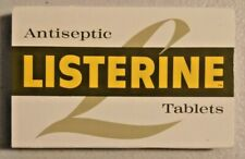 Vintage 1960s Listerine Antiseptic Tablets in Box Very Rare -- 2755