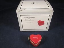 Midwest Cannon Falls Candy Heart Pill Box Love Hinged Valentines Day ~ As Is