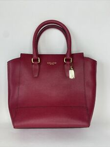 Coach New York Red Purse Handbag (F)